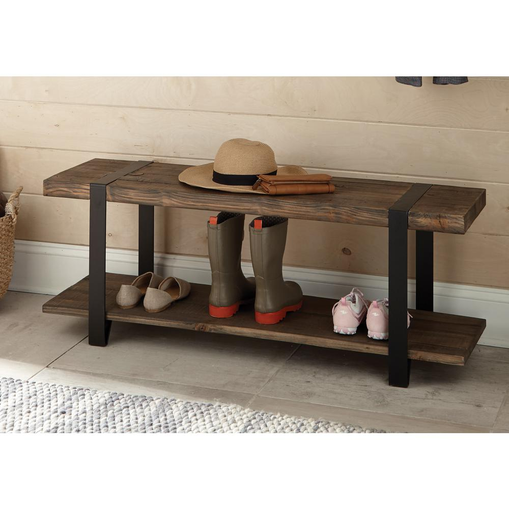 Foyer Bench Zoo : Alaterre furniture modesto rustic natural storage bench