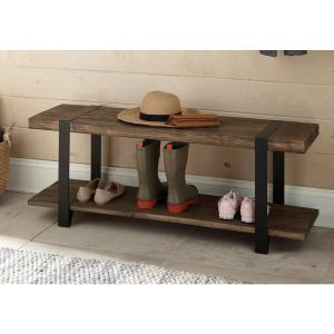 Alaterre Furniture Modesto Rustic Natural Storage Bench by Alaterre Furniture