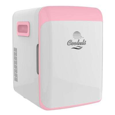 Classic 0.35 cu. ft. Retro Mini Fridge in Pink without Freezer