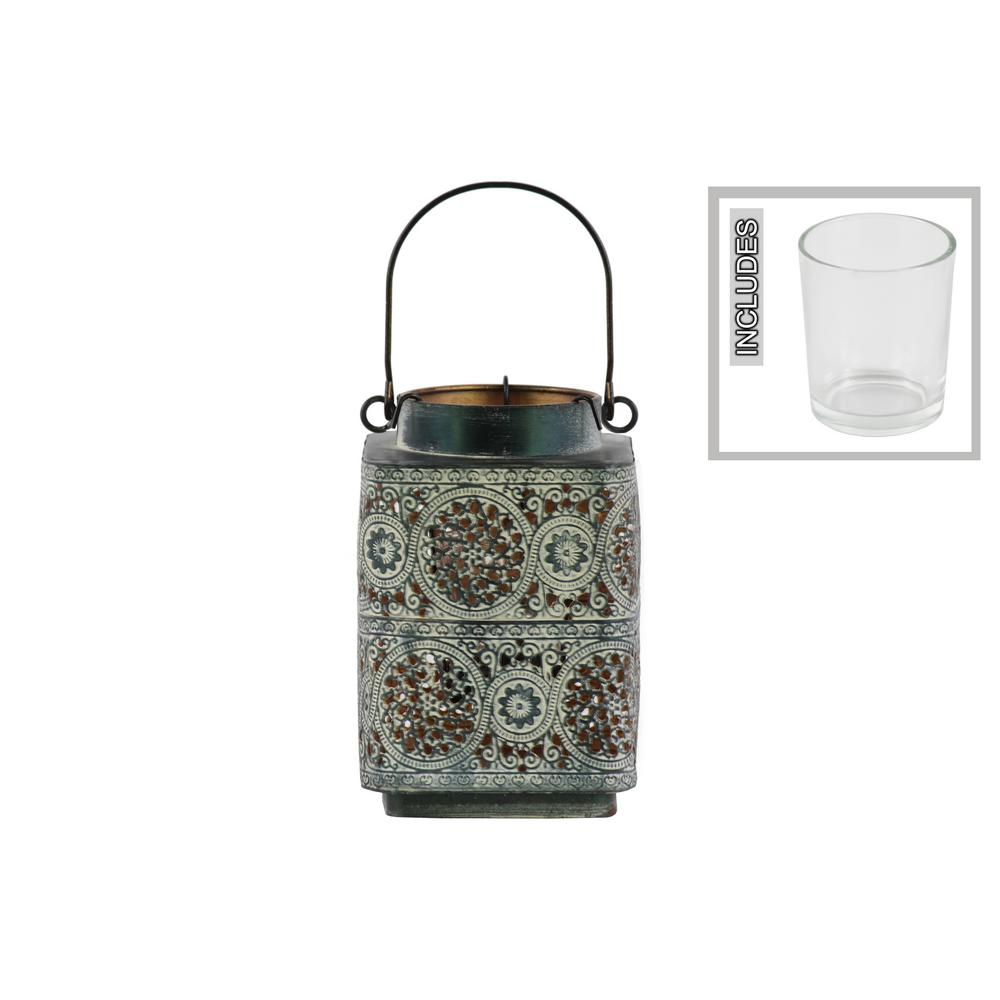 Black Candle Metal Decorative Lantern