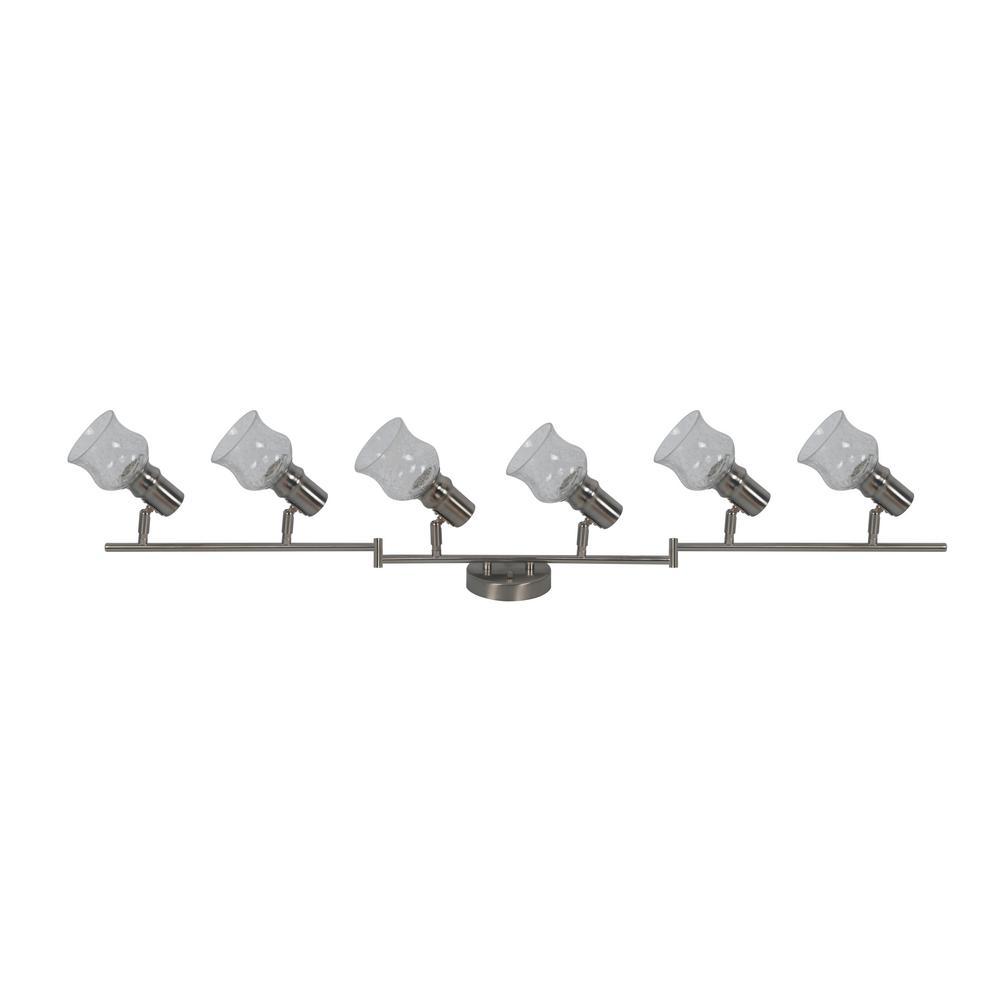 Vieste Collection 3.9 ft. 6-Lights Satin Nickel Track Lighting Kit