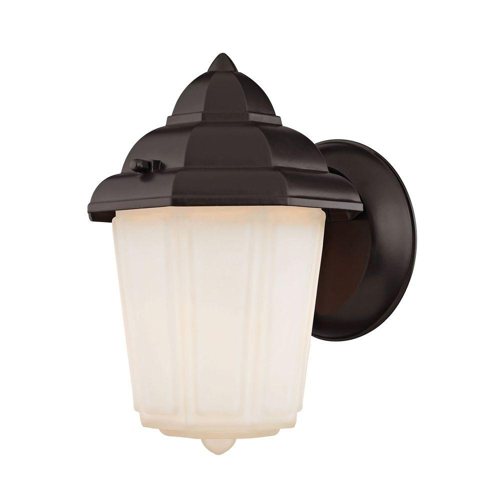 1-Light Oil Rubbed Bronze Outdoor Wall Sconce