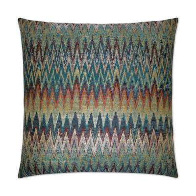 Inferno Multi Feather Down 24 in. x 24 in. Standard Decorative Throw Pillow