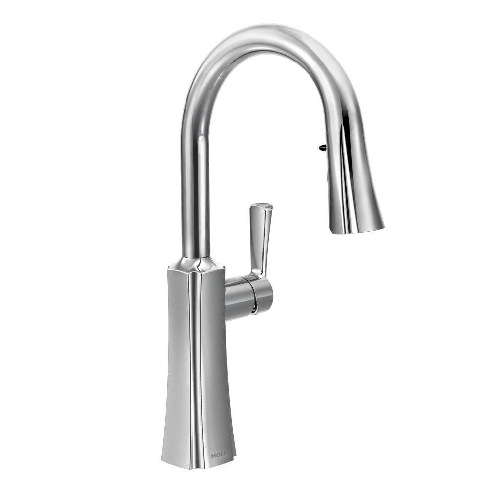 Moen Chrome Kitchen Faucet With Pull Down Spray