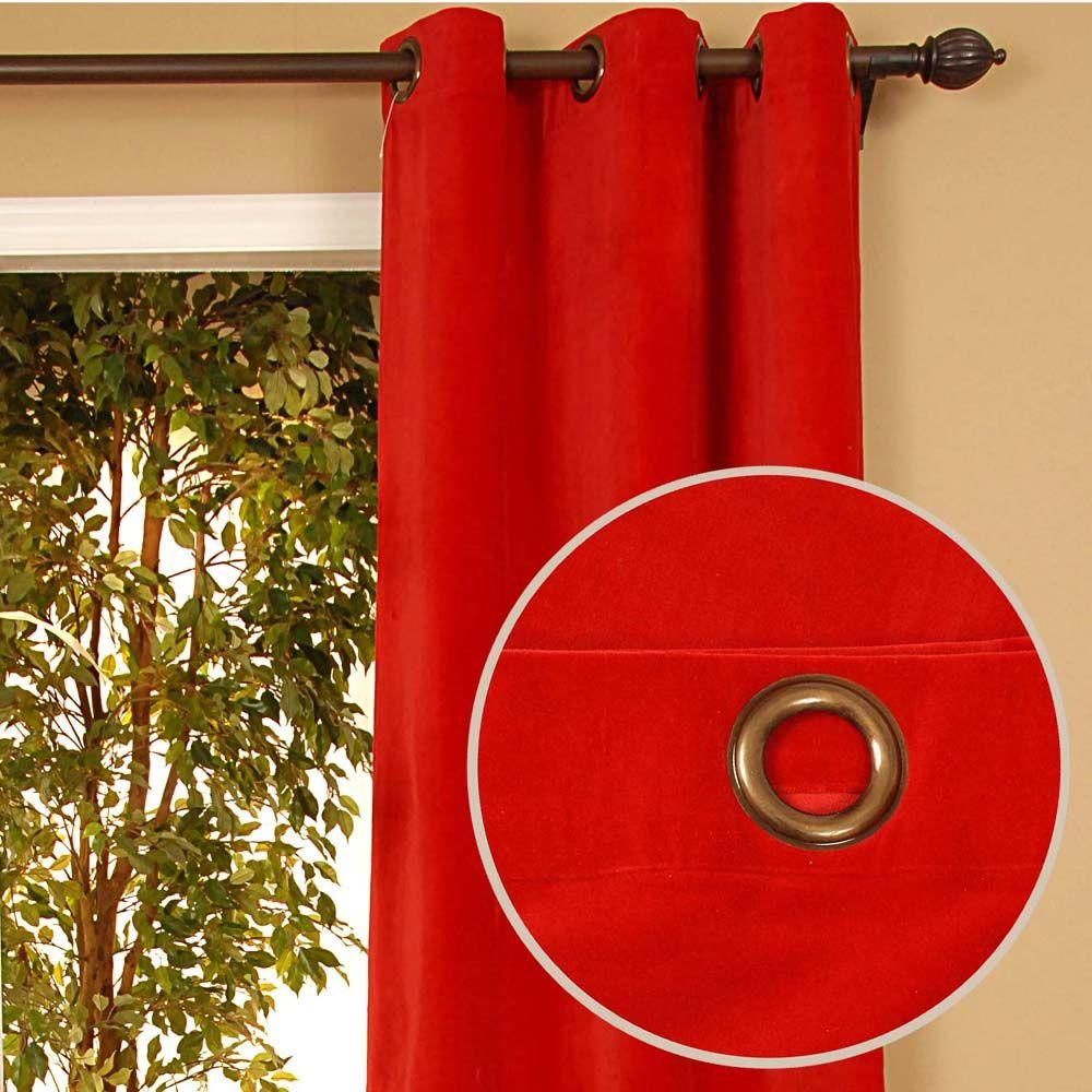 Home Decorators Collection Sheer Kavita Red Grommet Curtain