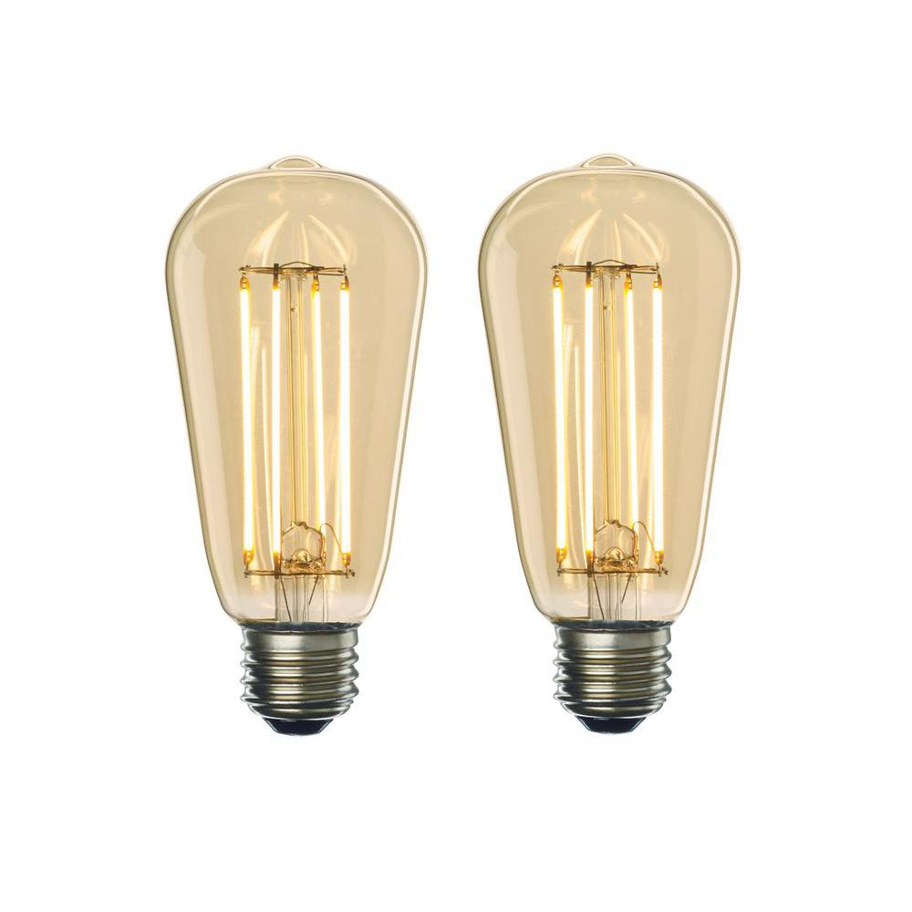 Bulbrite 40w Equivalent Amber Light G25 Dimmable Led: EcoSmart 60-Watt Equivalent A19 Non-Dimmable LED Light