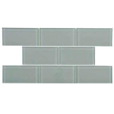 Tessera Subway Blue Smoke 6 in. x 3 in. Glass Wall Tile (1 sq. ft. / pack)