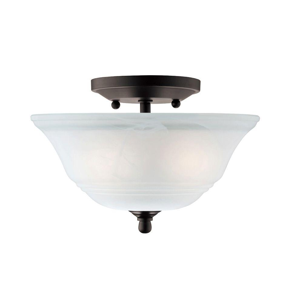 2 Light Ceiling Fixture: Westinghouse Wensley 2-Light Oil Rubbed Bronze Ceiling