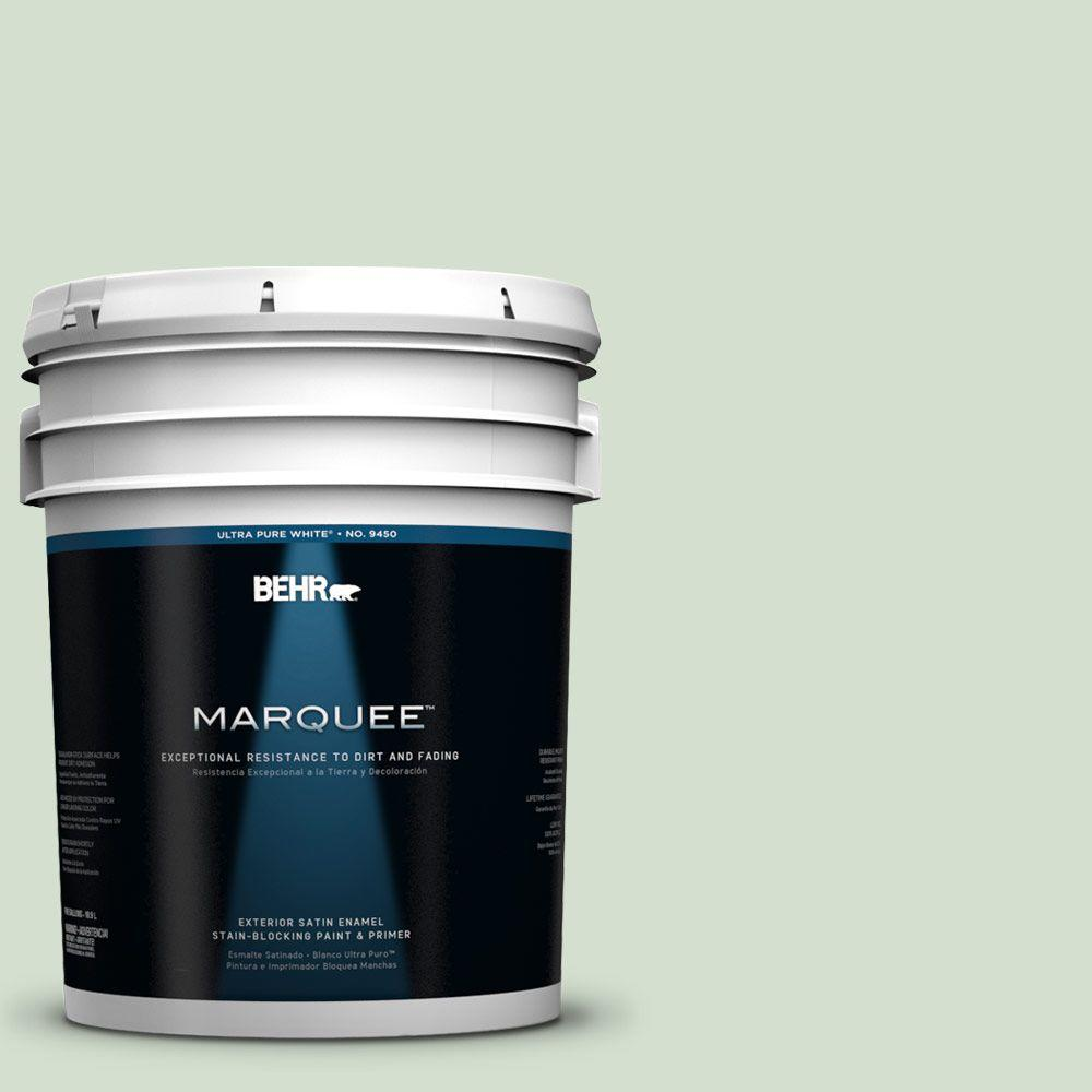 BEHR MARQUEE 5-gal. #440E-2 Herbal Mist Satin Enamel Exterior Paint