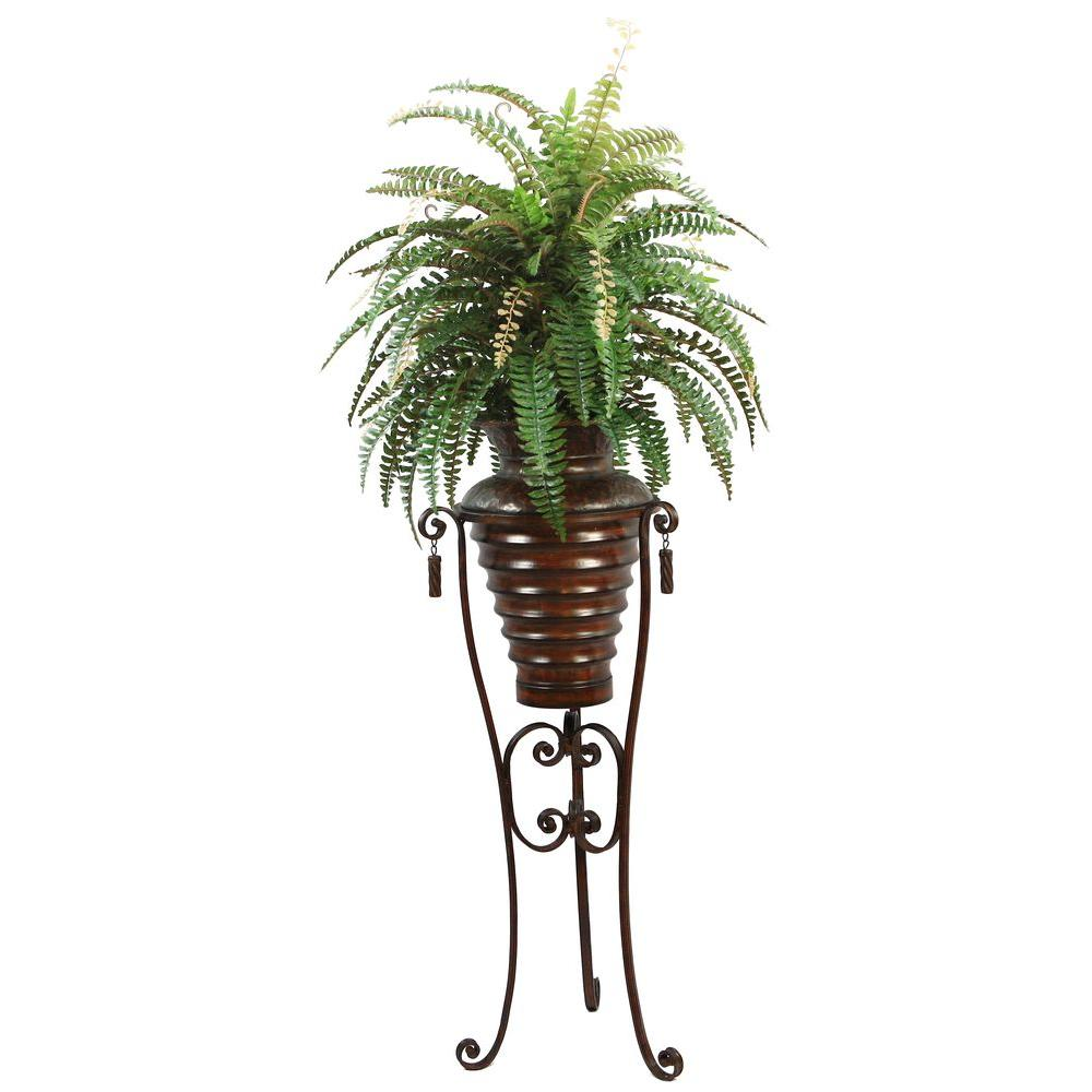6 ft. Tall High End Realistic Silk Boston Fern Plant with