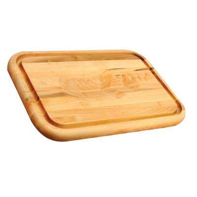Hardwood Cutting Board with Holding Wedge