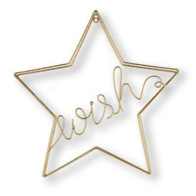 "16 in. x 16 in. ""Wish"" Metal Wall Art"