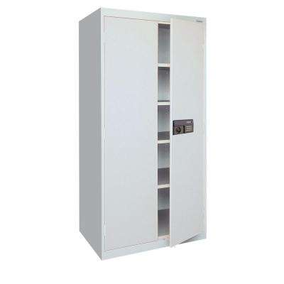 72 in. H x 36 in. W x 18 in. D Freestanding Steel Cabinet in Dove Gray