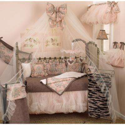 Nightingale Pink Floral 4-Piece Crib Bedding Set