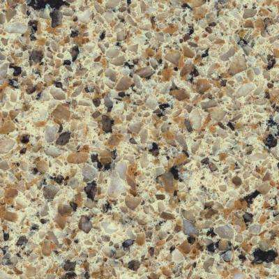 4 in. x 4 in. Natural Quartz Vanity Top Sample in Sand Staccato