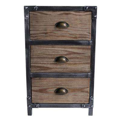 Herrington Industrial Grey 3-Drawer End Table