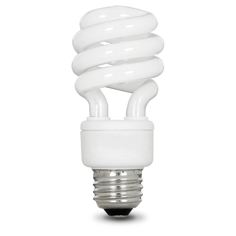 60-Watt Equivalent Soft White (2700K) Spiral CFL Light Bulb (12-Pack)