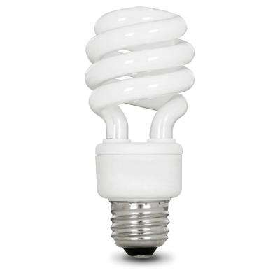 60-Watt Equivalent Soft White (2700K) Spiral CFL Light Bulb (12-Pack)
