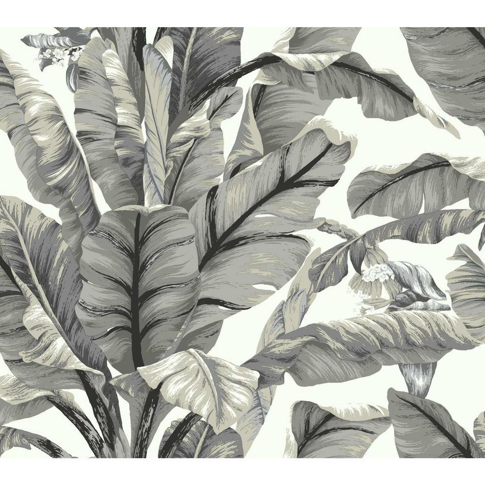 45 sq. ft. Banana Leaf Peel and Stick Wallpaper