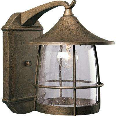 Prairie 1-Light Burnished Chestnut Wall Lantern