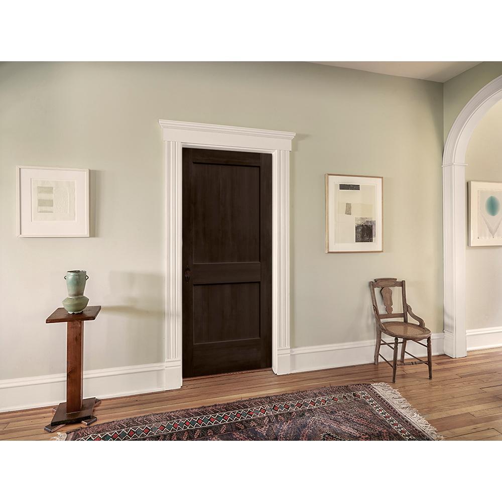 30 in. x 80 in. Monroe Espresso Stain Right-Hand Solid Core Molded Composite MDF Single Prehung Interior Door