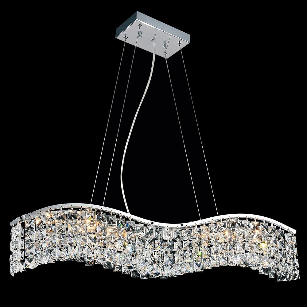 Glamorous 5-light chrome chandelier