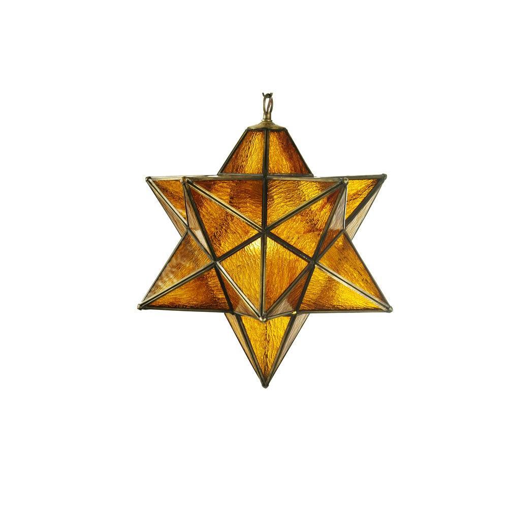 Illumine 1 Light Moravian Star Pendant Mica Glass