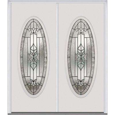 60 in. x 80 in. Cadence Right-Hand Inswing Oval Lite Decorative Glass  sc 1 st  Home Depot & Steel Doors - Front Doors - The Home Depot