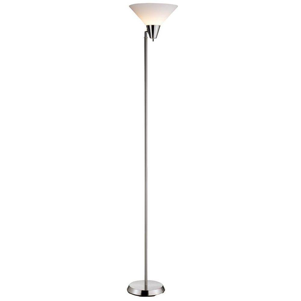Swivel 71.5 in. Satin Nickel Floor Lamp