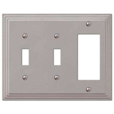 Steps 2 Toggle 1 Decora Wall Plate - Nickel