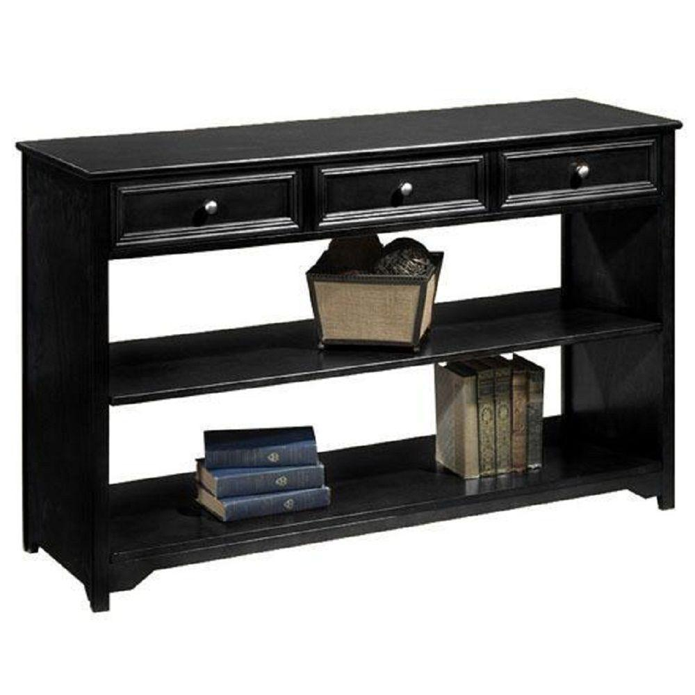 Home decorators collection oxford black storage console Console tables with storage