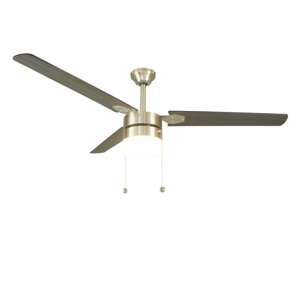 Montgomery 56 in. Indoor Brushed Nickel Ceiling Fan with Light