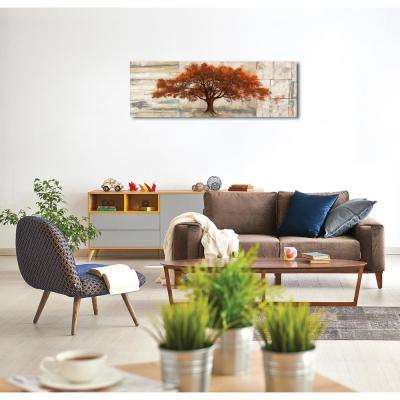 60 in. H x 20 in. W 'SAI - Amber Leaves' by Oliver Gal Framed Canvas Wall Art