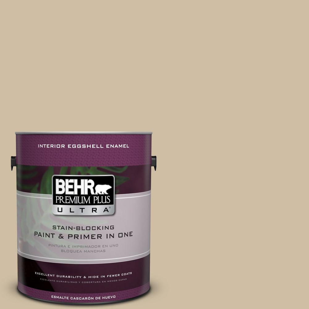 BEHR Premium Plus Ultra 1 gal. #PPU8-10 Rye Bread Eggshell Enamel Interior Paint and Primer in One