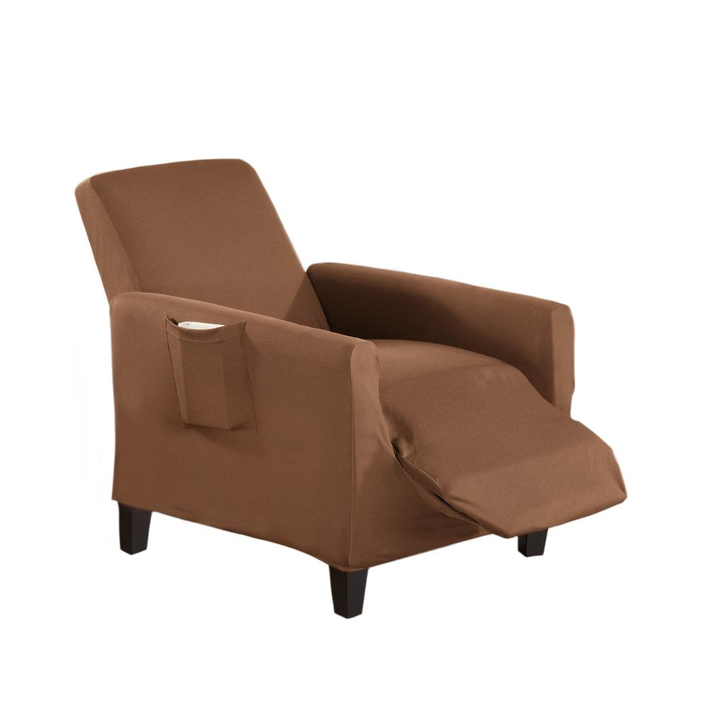 Dawson Collection Toffee Twill Form Fit Recliner Slipcover