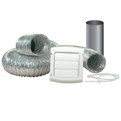 4 in. x 8 ft. Flexible Louvered Dryer Vent Kit