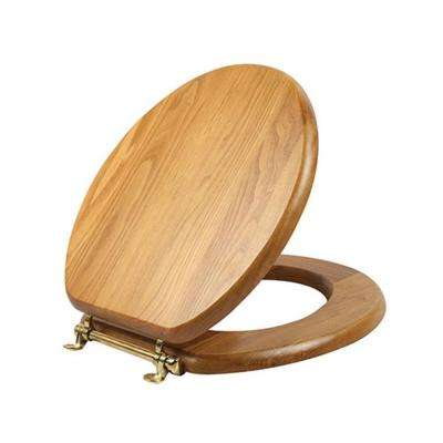 Dalton Round Closed Front Toilet Seat in Honey Oak