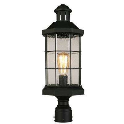 San Mateo Creek 1-Light Outdoor Matte Black Post Light