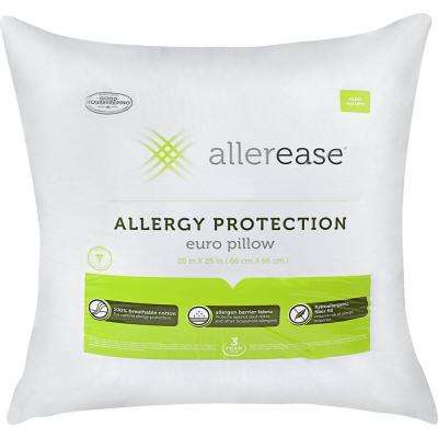 Cotton Allergy Protection Hypoallergenic Euro Pillow (Pack of 2)
