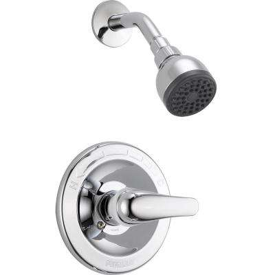 1-Handle Shower Faucet Trim Kit in Chrome (Valve Not Included)