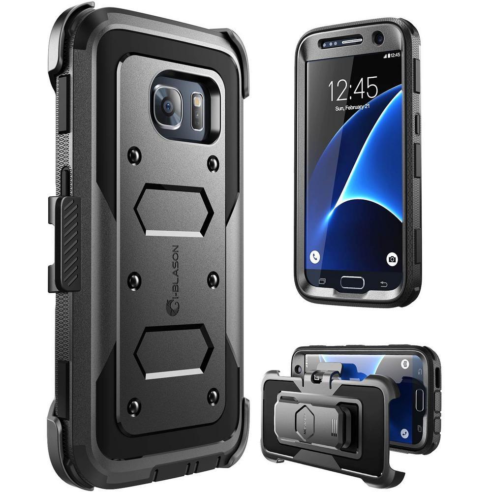 i-Blason-Galaxy S7-Armorbox Series Fullbody Protective Case-Black