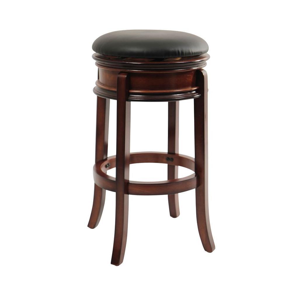 Magellan 29 in. Brandy Swivel Cushioned Bar Stool