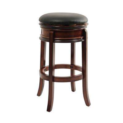 Magellan 29 in. Brandy Swivel Cushioned Bar Stool