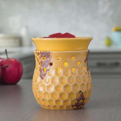 7.3 in Honeycomb 2-in-1 Flickering Fragrance Warmer
