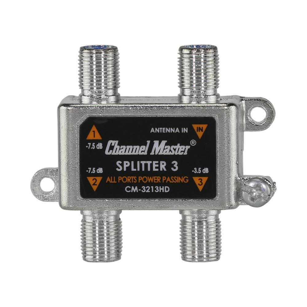 Channel Master Splitter 3 Divides the TV Signal From Your Antenna to Connect 3 TV's