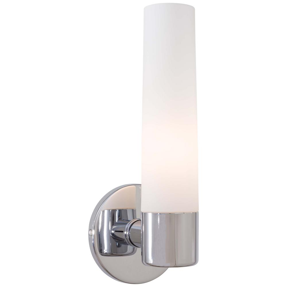 George Kovacs Saber 1 Light Chrome Wall Sconce P5041 077   The Home Depot
