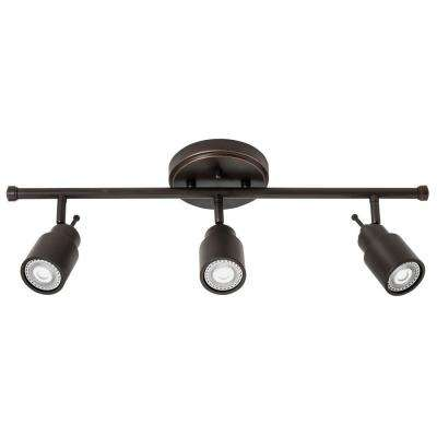 2 ft. 3-Light Oil-Rubbed Bronze LED Track Lighting Fixed Kit