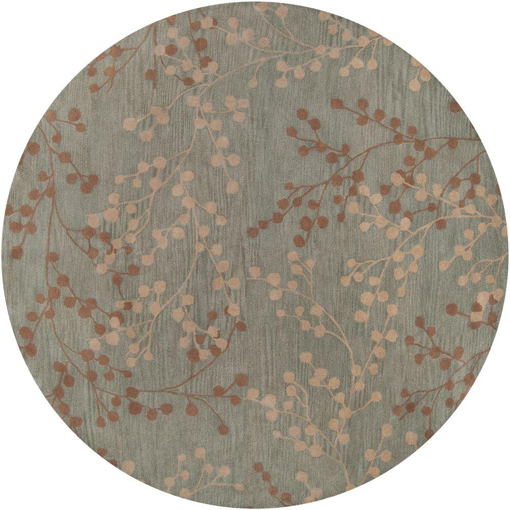 Home Decorators Collection Blossoms Blue 8 ft. x 8 ft. Area Rug