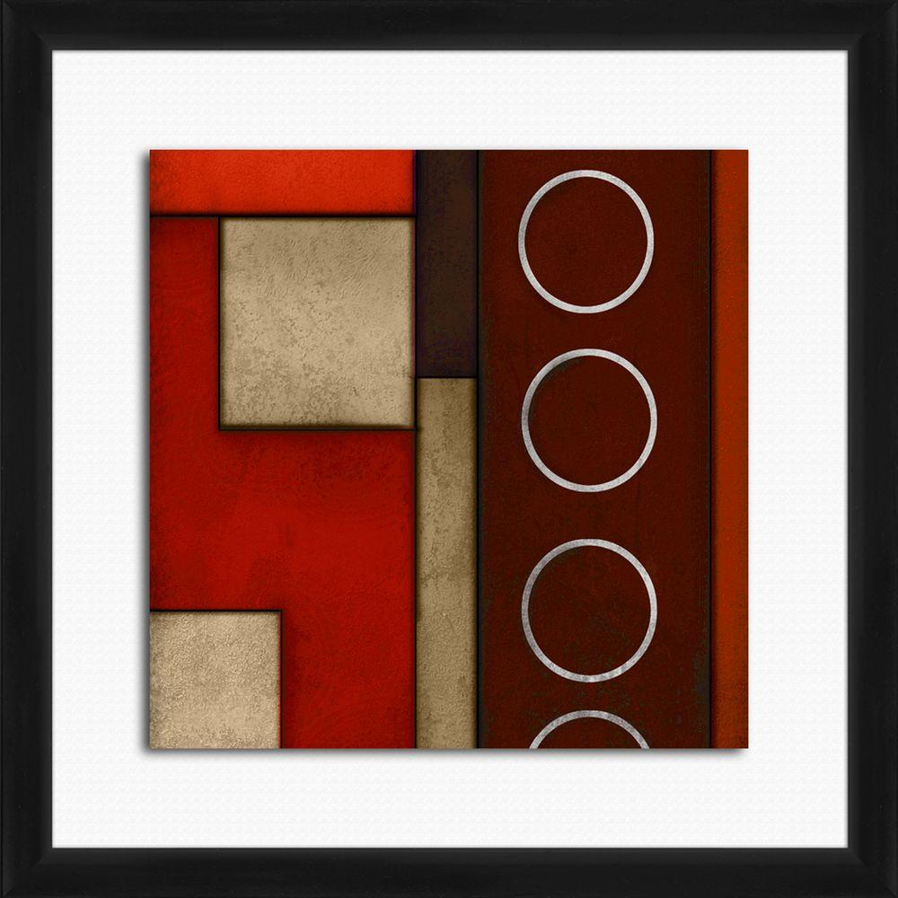 "18 in. x 18 in. ""Circles A"" Framed Wall Art"