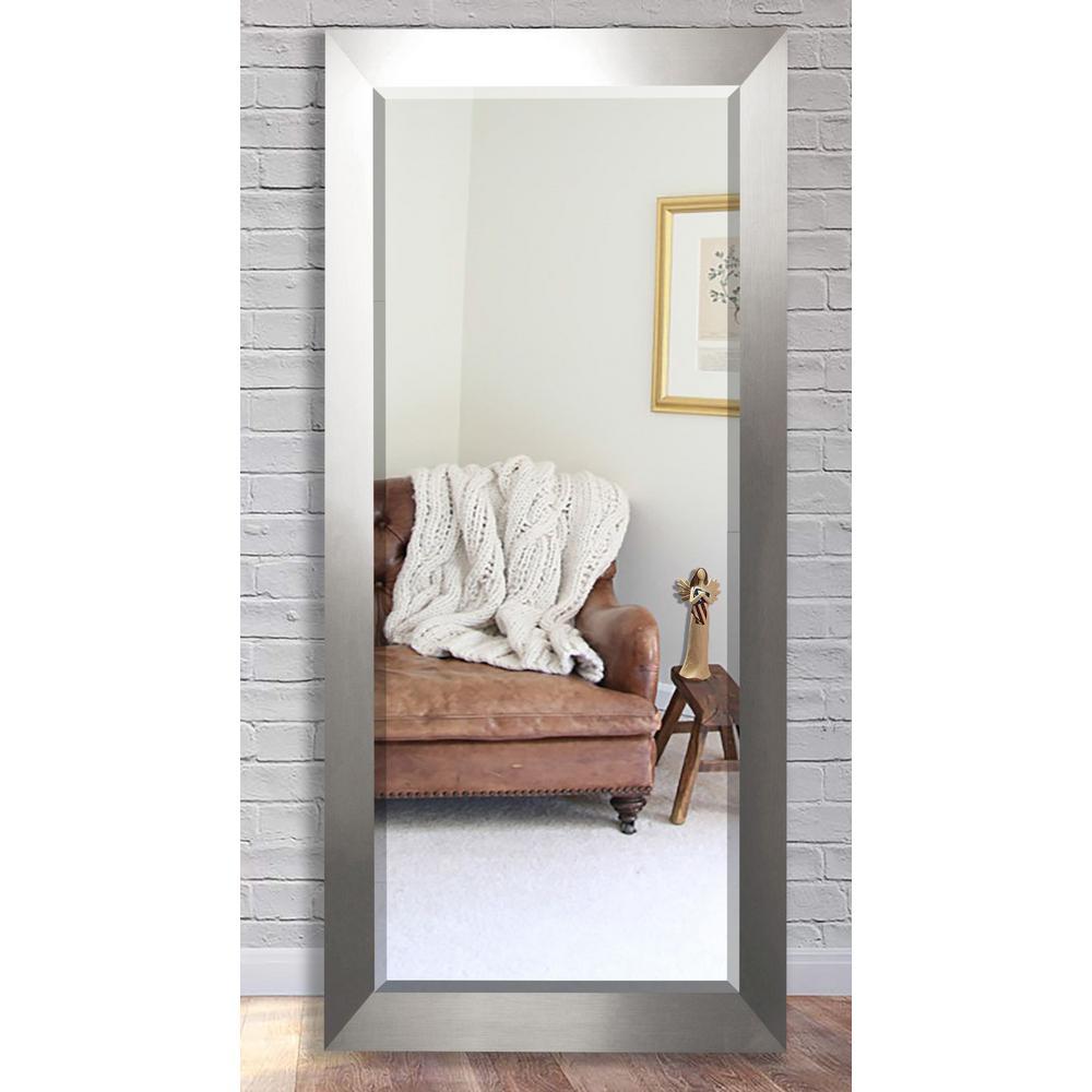 30.5 in. x 71 in. Silver Wide Beveled Oversized Full Body Mirror